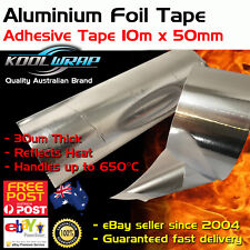 Silver Aluminium Foil Adhesive Duct Tape Reflective Heat Shield 10m X50mm X30mu
