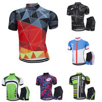 Men's Bicycle Outfits Cycling Jersey Bike Bicycle Short Sleeve Set Outdoor