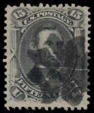 "US #91, 15¢ Lincoln ""E"" Grill, used w/Petal fancy cancel, VF, Scott $600.00"