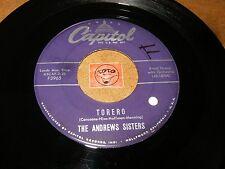 THE ANDREWS SISTERS - TORERO - SUNSHINE  / LISTEN - VOCAL GROUP