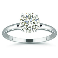 3.19 ct VVS1/NATURAL OFF WHITE REAL MOISSANITE DIAMOND 925 Sterling SILVER RING
