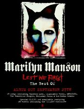 Marilyn Manson 2004 Poster Ad Lest We Forget