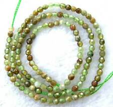 3mm Round Faceted Natural Green Grossular-garnet Beads 15.5""