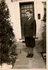 Old Vintage Antique Photograph Cute Little Boy Wearing Knickers