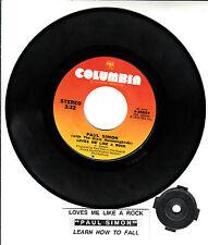 """PAUL SIMON  Loves Me Like A Rock 7"""" 45 rpm record + juke box title strip NEW"""