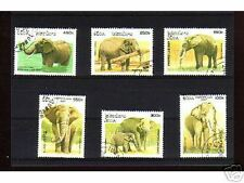 1021++LAOS   SERIE TIMBRES  ELEPHANTS  N°2