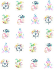 Pastel Maritime Waterslide Nail Decals/Nail Art