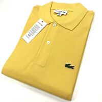 Lacoste Men's Classic Cotton L1212 Polo Shirt In Banana Yellow Size S