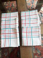 LOT02/ 6 Serviettes de table anciennes 49X49cm Linge Basque métis 6 Old napkins