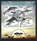 Animaux Dauphins Togo (215) série complète de 4 timbres oblitérés