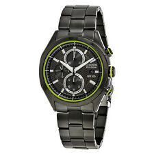 Citizen HTM Black Dial Water Resistant Stainless Steel Mens Watch CA0435-51E