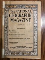 1912-10 October National Geographic Magazines Vol. XXIII No. 10, Canals Of China