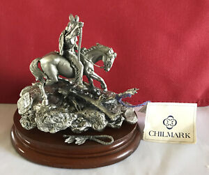"""1980 Chilmark """"ENEMY TRACK"""" Limited Ed. Polland- Fine Pewter in BOX"""