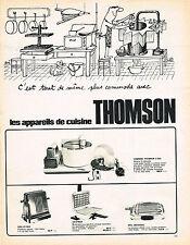 PUBLICITE ADVERTISING   104  1965  THOMSON  les appareils de cuisine par SINE