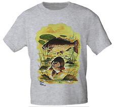 T-Shirt unisex S M L Xl Xxl Shirts Angler Fische Fisch Karpfen 09874
