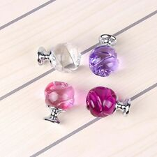 Pink Crystal Rose Design Knobs Home Furniture Handle Cabinet Door Dresser Pulls
