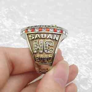 2020 Alabama Crimson Tide team, Head coach: Nick Saban Championship Ring