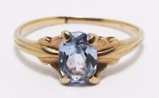 100% Genuine Vintage 10k Solid Yellow Gold 0.94cts Natural Topaz Ring Sz 7 US