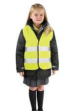 Gilet jaune de sécurité fluorescent pour enfant 3 à 6 ans haute visibilité
