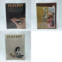 Lot of 3 Playboy Magazines Oct Nov Dec 1964 Vintage Ads