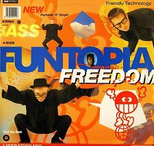 "FUNTOPIA FEATURING JIMMI POLO freedom GEET14 uk gee street 1989 12"" PS EX/EX-"