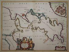 Golfo della Prevesa-Coronelli 1692-Preveza en Grecia-mapa rara
