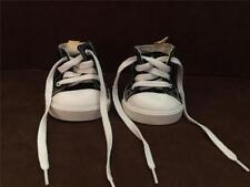 Build A Bear Workshop BABW Black & White Converse Shoes Hi Top Sneakers EUC
