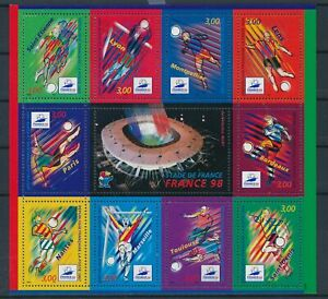 [G388864] France 1998 soccer good very fine MNH sheet