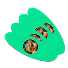 Just as Bad as Iguana Be Tropical Beach Surf Oval Nail File Emery Board 4 Pack