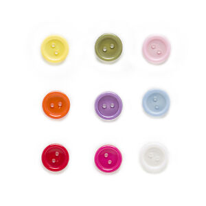 100pcs 2 hole Round Resin Buttons Sewing Scrapbooking Home Decor Clothing 13mm