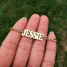 Jewelry Name Anklet Foot Gift Custom Name Anklet Figaro Chain Customized