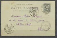 1900 VAR CP Entier Sage Obl CAD T25 perlés ILE DE PORQUEROLLES/VAR superbe X3005