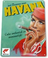 Havana Cigars Tobacco Smoking Retro Vintage Wall Decor Man Cave Metal Tin Sign
