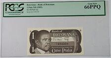 (1983) Bank of Botswana 1 Pula Note SCWPM# 6a PCGS 66 PPQ Gem New
