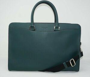 Coach Men's Beckett Structured Leather Forest Green Briefcase F73524