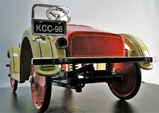 A Pedal Car 1920s Ford w/Coil Suspension Red Wheel T Sport Vintage Midget Model