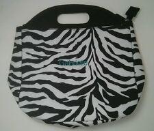 Pottery Barn Pb Teen Gear Up Black White Zebra Lunch Bag Tote name Gabrielle New