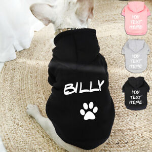 Cute Personalised Dog Cat Hoodie Custom Name Number Clothes for Small Large Dogs