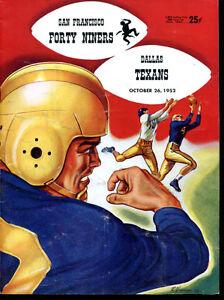 1952 San Francisco 49ers v Dallas Texans Program Only Year Ex 5253