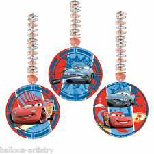 "3 Disney CARS 2 Party Dangling 9"" Cutouts Decorations"