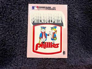 VINTAGE 1979 Philadelphia Phillies Fleer Grand Slam Team Logo PINK Sticker, NMMT