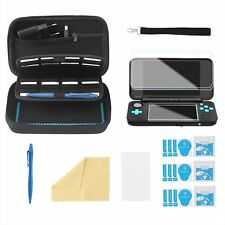 Bestico Starter Kits for New Nintendo 2DS XL, Include Carrying Case with 16 for