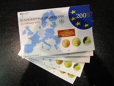 Germania BRD Euro KMS 2009 Saar a-j ADFGJ completamente in blister PP