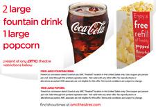 AMC Theatres Vouchers for 1 LARGE Popcorn, 2 LG Drinks exp 6/30/21 Fast e-deliv