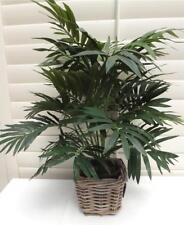 65cm  PARLOR  PALM & BASKET INDOOR DECOR HOUSE PLANT *ARTIFICIAL* SILK *
