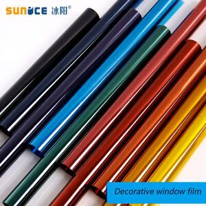 Colorful Decoration Window Film Selfadhesive Privacy Protection Solar Tint Vinyl