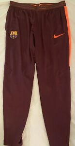 Nike FC Barcelona Flec Strike Pants Burgundy 858409-685. Adult Size: Large