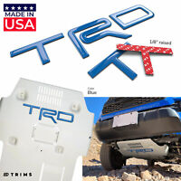Blue Domed 3D Letters fits TRD Skid Plate Tacoma 2016-2020 - 4Runner 2019-2020