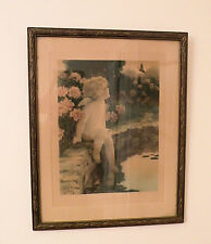 "ORIGINAL BESSIE PEASE GUTMANN PRINT, ""The Butterfly"", NICE PERIOD FRAME!!"