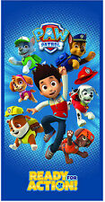 Official Licensed Paw Patrol Beach Bath Towel Read for Action Size 70x140cm